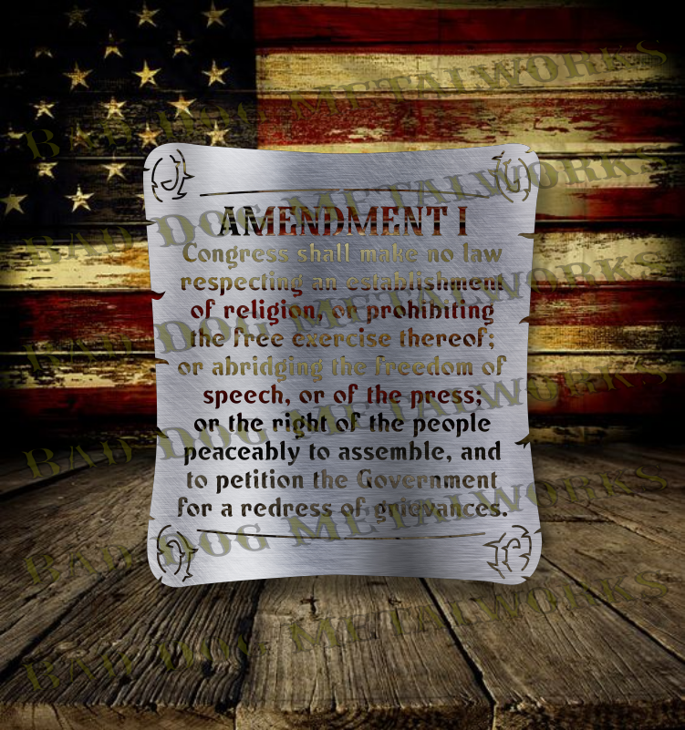 First Amendment US Constitution Scroll - Svg and Dxf