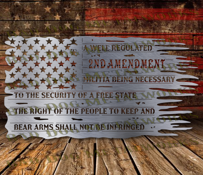 50 Star 2nd Amendment Tattered Flag - Svg and Dxf - Bad ...