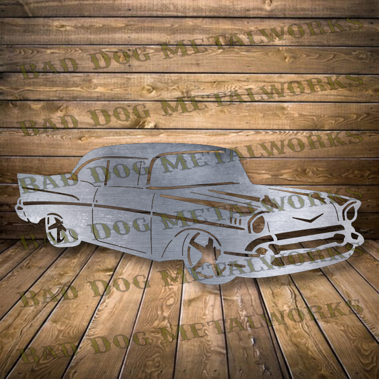 1957 Chevy Approach - Svg and Dxf