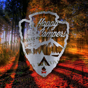 Happy Campers Arrowhead - Svg and Dxf