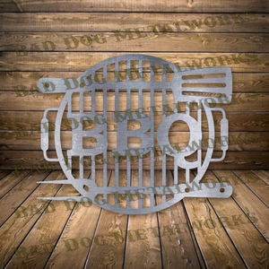 BBQ Grill Sign - Svg and Dxf