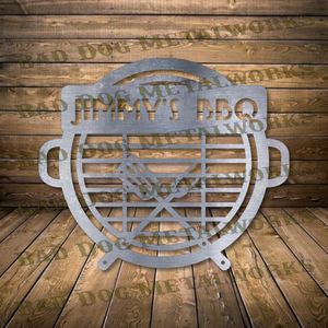 Personalizable BBQ Monogram - Dxf and Svg