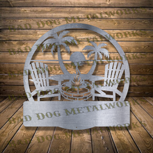 Load image into Gallery viewer, Beach Fire Pit Monogram - Dxf and Svg