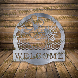 Bee Welcome Sign - Svg and Dxf