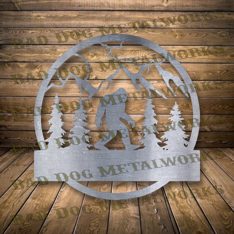 Bigfoot Monogram - Dxf and Svg