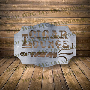 Vintage Cigar Lounge - Dxf and Svg