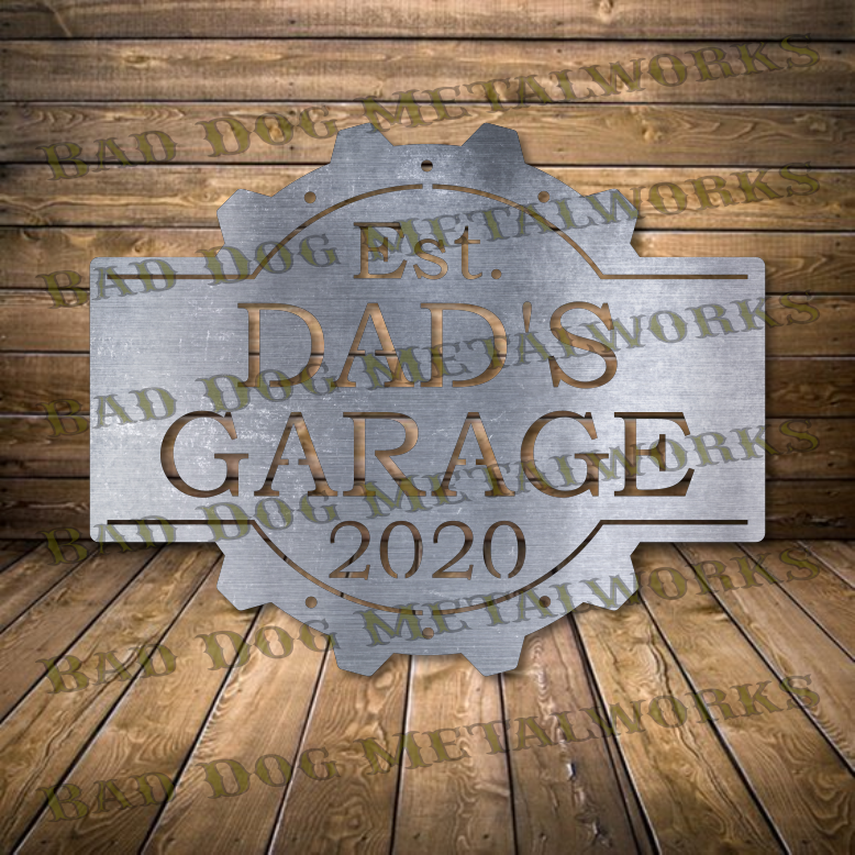 Steampunk Dad's Garage - Svg and Dxf