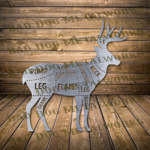 Deer Cuts Butcher's Diagram - DXF and SVG File