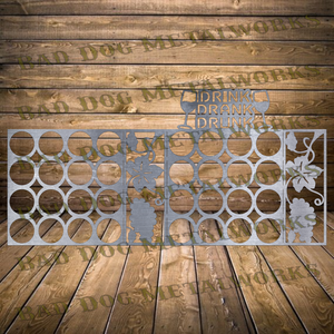 Drink Drank Drunk Wine Rack - Dxf and Svg