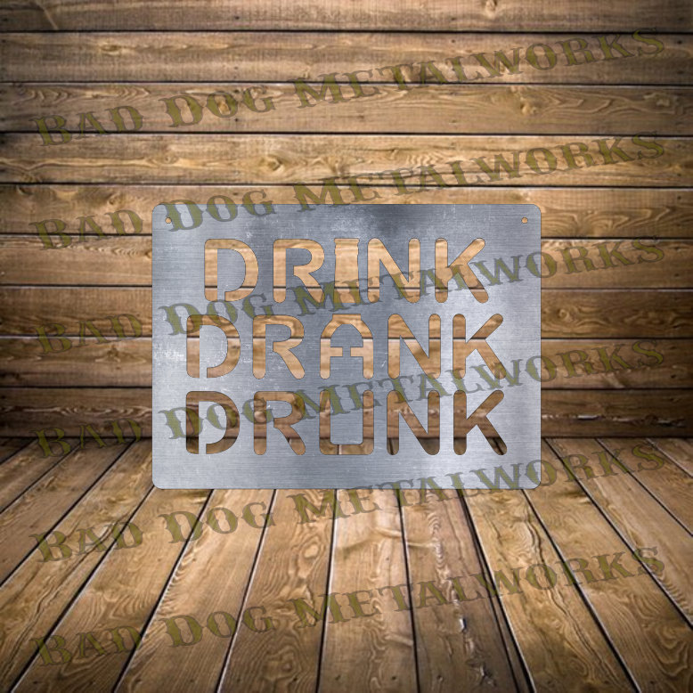 Drink Drank Drunk - Dxf and Svg