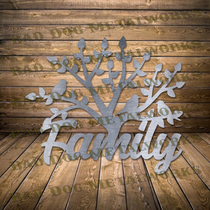 Family Tree - Svg and Dxf