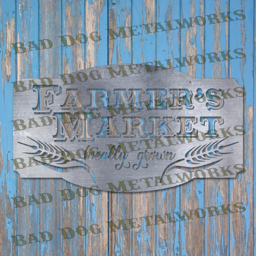 Farmer's Market Sign - Dxf and Svg