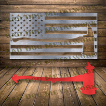 Load image into Gallery viewer, Fireman Redline Axe Flag - Dxf and Svg