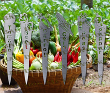 Load image into Gallery viewer, Vegetable Garden Stakes (Set 1) - Dxf and Svg