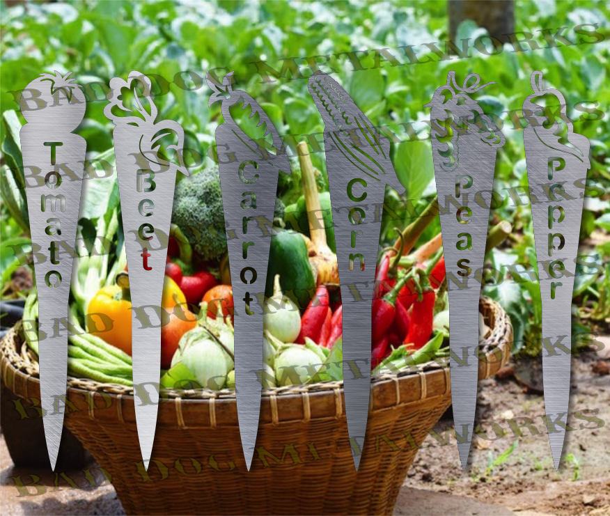 Vegetable Garden Stakes (Set 1) - Dxf and Svg