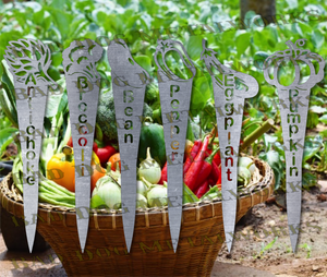 Vegetable Garden Stakes (Set 2) - Svg and Dxf