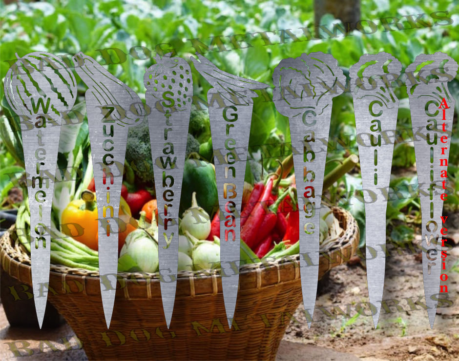 Vegetable Garden Stakes (Set 3) - Svg and Dxf