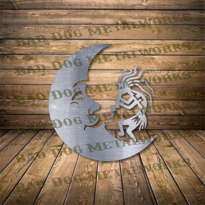 Kokopelli and Crescent Moon - Svg and Dxf