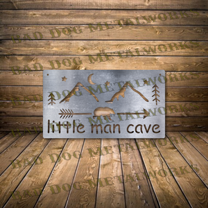 Little Man Cave Sign - Svg and Dxf