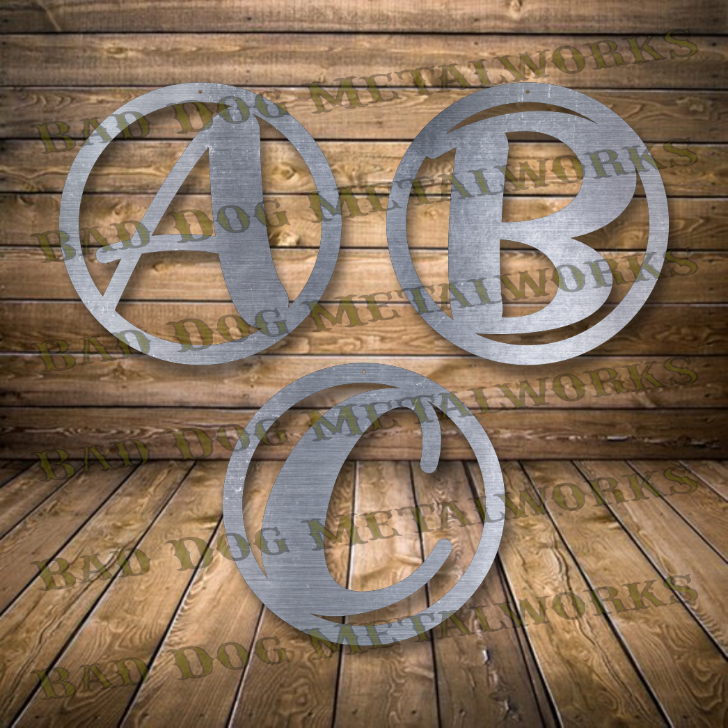Circle Monograms - Dxf and Svg