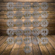 Load image into Gallery viewer, Round Fleur-De-Lis Monograms - Dxf and Svg