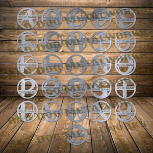 Customizable Circle Letter Monograms - Dxf and Svg