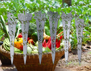 Vegetable Garden Stakes (Set 5) - Svg and Dxf