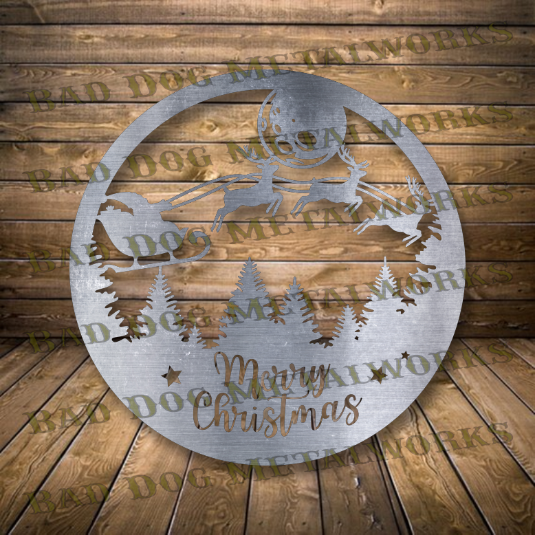 Merry Christmas Snowglobe - Dxf and Svg