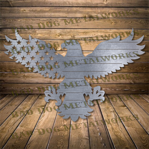 Stars and Stripes Eagle - Svg and Dxf