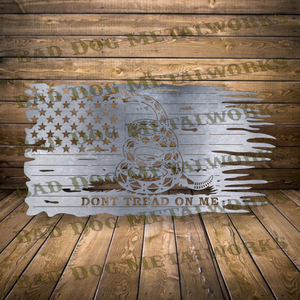 Gadsden Tattered American Flag Don't Tread on Me - Svg and Dxf