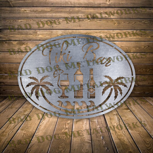 Tiki Bar Sign - Svg and Dxf