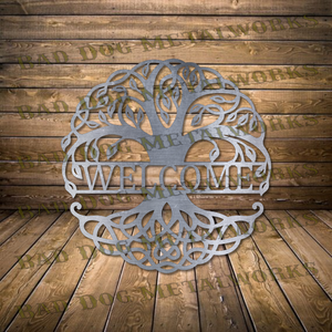 Celtic Tree of Life Welcome Sign - Svg and Dxf