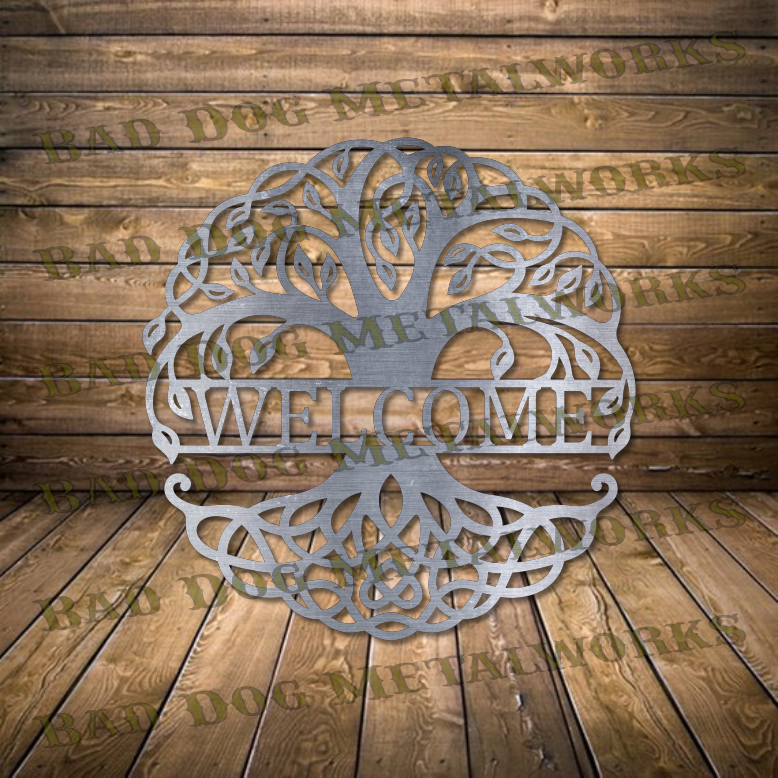 Celtic Tree of Life Welcome - Dxf and Svg