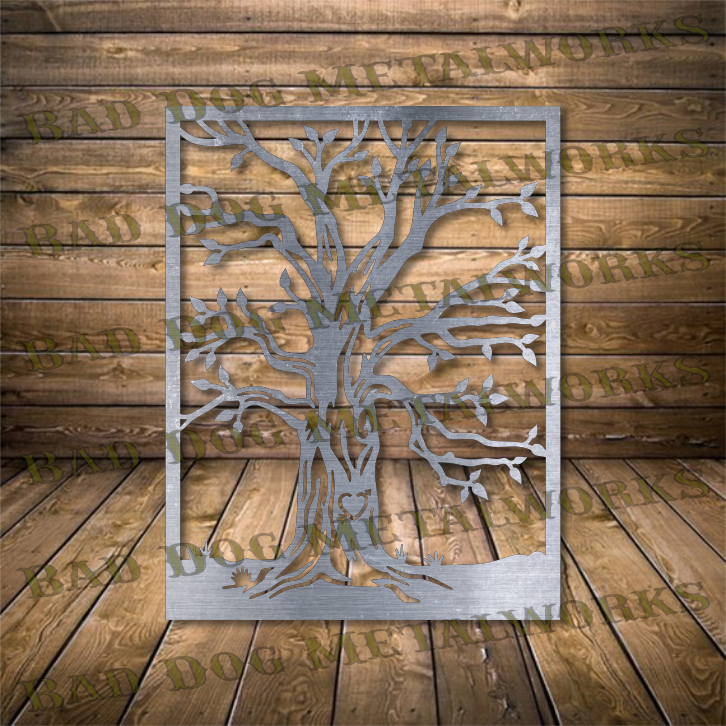 Framed Tree - Svg and Dxf