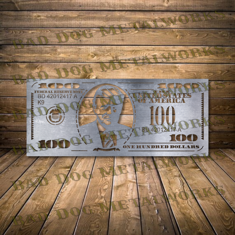 Trump Hundred Dollar Bill - Trump Hundo - Svg and Dxf