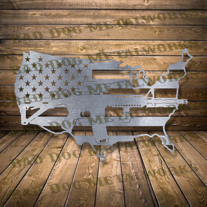 Rifle US Outline - Dxf and Svg