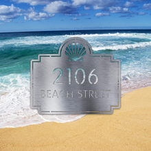 Load image into Gallery viewer, Beach-Themed Address Plaque
