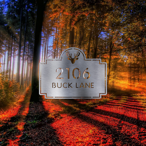 Deer Address Plaque