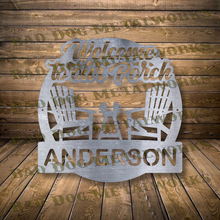 Load image into Gallery viewer, Welcome To Our Porch Monogram - Dxf and Svg