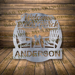 Welcome To Our Porch Monogram - Dxf and Svg