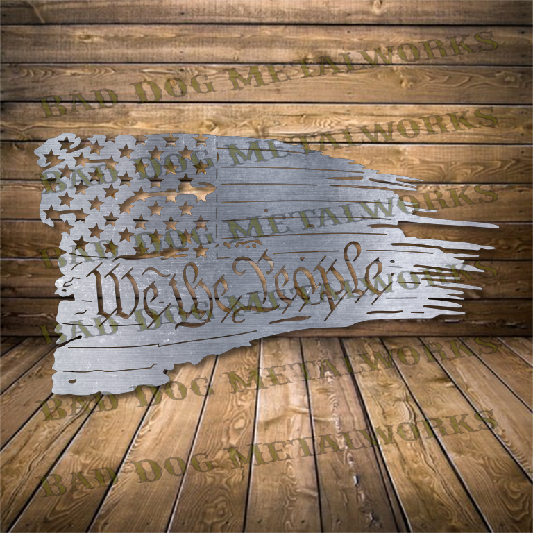 We The People Tattered Flag - Svg and Dxf