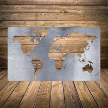 Load image into Gallery viewer, World Map Metal Panel