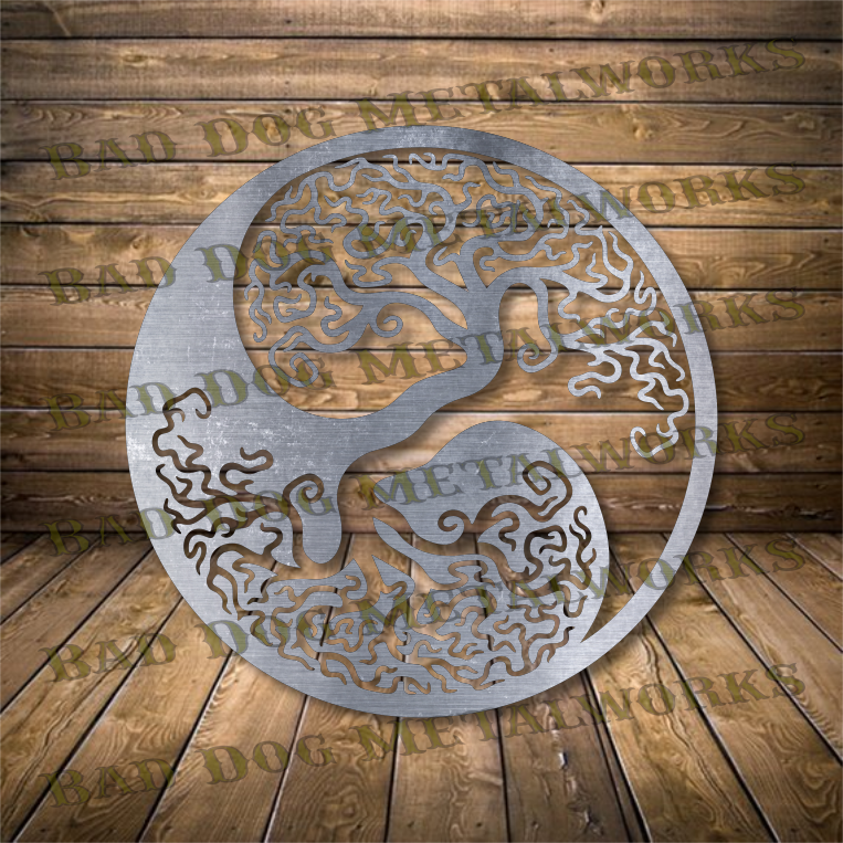 Yin Yang Tree of Life - Svg and Dxf