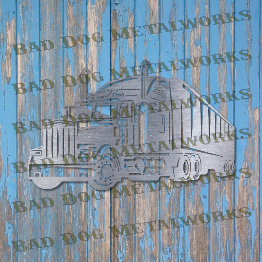 Semi Tractor Trailer Truck - Svg and Dxf