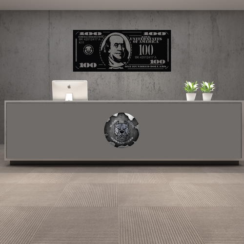 Bad Dog Original Hundo - Hundred Dollar Bill Office Decor