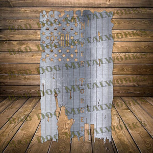 9/11 Never Forget American Tattered Flag - Dxf and Svg