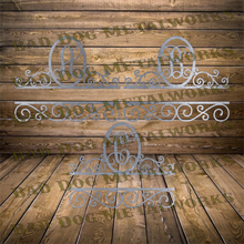 Load image into Gallery viewer, Vine Font Split Scroll Monogram Set - Dxf and Svg