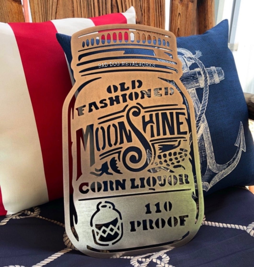 Old Fashioned Moonshine Mason Jar