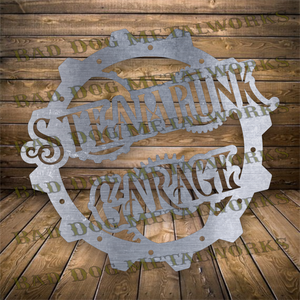 Steampunk Garage Sign - Svg and Dxf