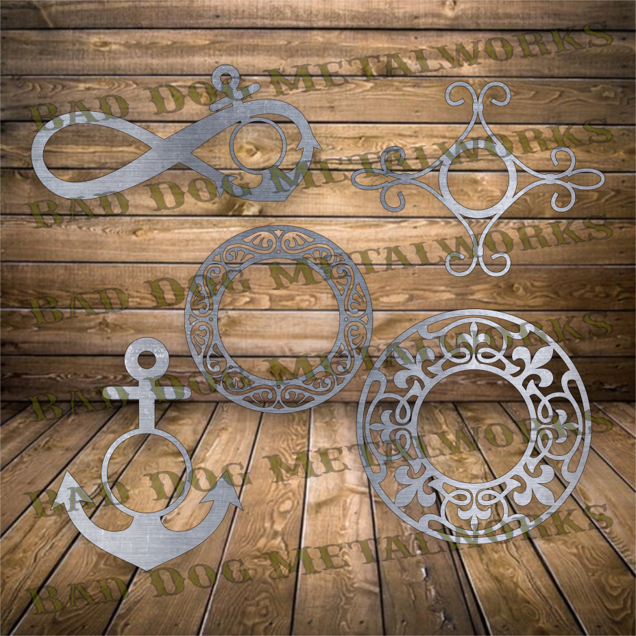 Monogram Frames File Pack - Svg and Dxf